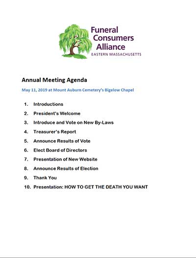2019 FCAEM Annual Meeting Agenda