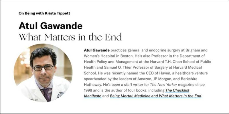 Atul Gawande Interview