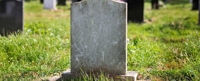 Single gravestone